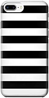 R1596 Black and White Striped Case Cover For iPhone 8 Plus