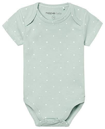 Noppies U Romper SS Sevilla 67362 Body, Green (Grey Mint C175), 3 Mes Unisex bebé