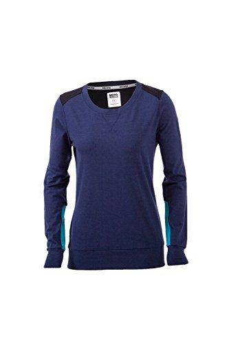 Mons Royale Jersey pour Femme à Encolure Ras du Cou en Laine mérinos Bleu/Noir/Med Blue mR5313090 Taille l