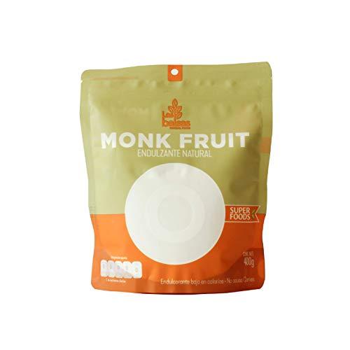 Las Balsas - Monk Fruit Empaque De 400 Gramos - Endulzante Natural fruto del Monje Natural - Sustituto de Azúcar KETO