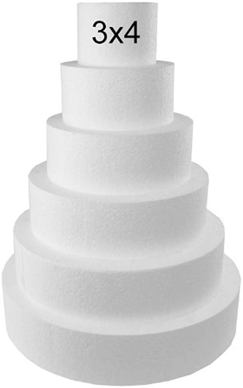 Round 3 Cake Dummies Set Of 4 3 High By 4 6 8 10