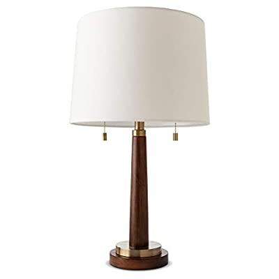 Franklin Table Lamp - Wood with Brass Trim -ThresholdTM