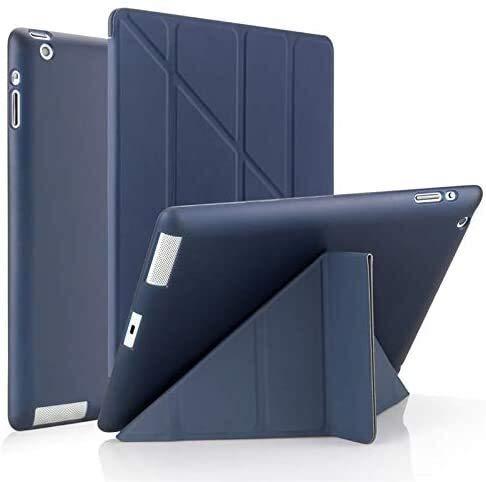 PHH Tab Accessories for Ipad 2/3/4 9.7 2018/2017 5/6th, Ultra Thin PU Leather Soft Smart Cover for IPad MINI 1/2/3/4/5 7.9' (Color : Dark blue, Size : Mini 5 2019 7.9inch)
