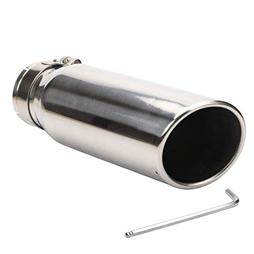 3 Inch Inlet Exhaust Tip for F150 F250 F350 F450 Super Duty Ram 1500 2500, 3 x 4 x 12 Chrome Polished Exhaust Tailpipe Tip