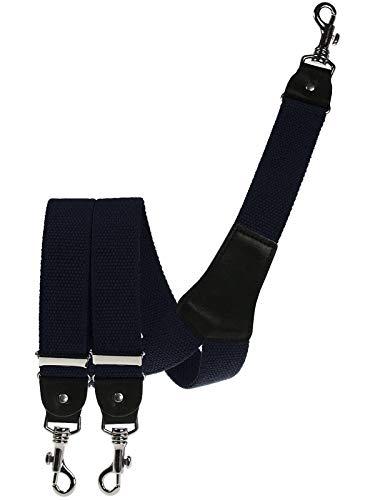 Harrys-Collection Herren extra starker Hosenträger mit Karabinerhaken, Farben:marine, Größen:120 cm