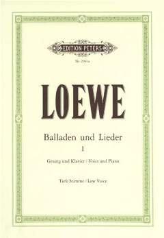 BALLADEN + LIEDER 1 - arrangiert für Gesang - Tiefe Stimme (Low Voice) - Klavier [Noten/Sheetmusic] Komponist : LOEWE CARL