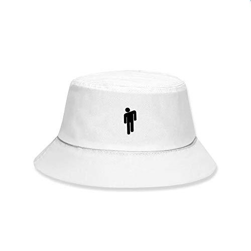 Lanly Cappello da Pescatore Unisex Uomo Donna Cotone Pieghevole Moderno Billie Eilish Cappello Protezione UV Cappello Estivo (Bianco)