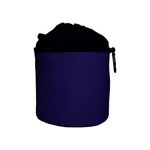 trendfinding Bolsa para Guardar Las Pinzas para la Ropa - con mosquetón para Colgar - Algodón - Azul Marino Oscuro