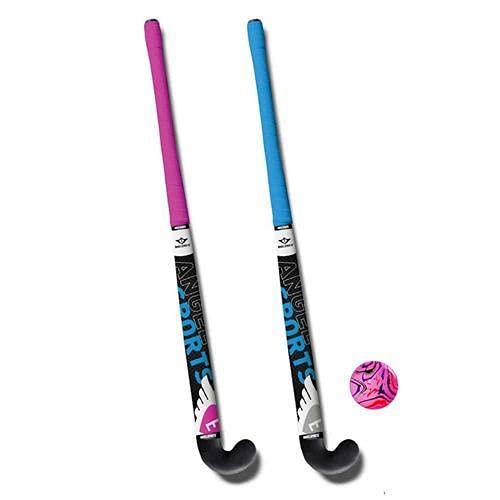 Thierry Mugler Hockeyset, blauw/roze, 28 inch