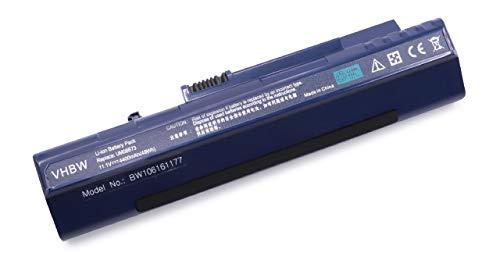 vhbw Batterie Li-ION 4400mAh (11.1V) Bleu foncé pour Notebook Laptop Acer Aspire One 571, A110, A110L, A110X, A150, A150L, A150X comme LC.BTP00.017.
