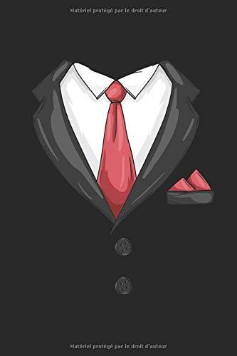 Costume habillé Cravate Tuxedo Carnet de Notes: hommes Carnet A5 à carreaux Carnet de calcul Organiseur Bloc notes messieurs calepin Journal cadeau garçons Brochure quadrillé