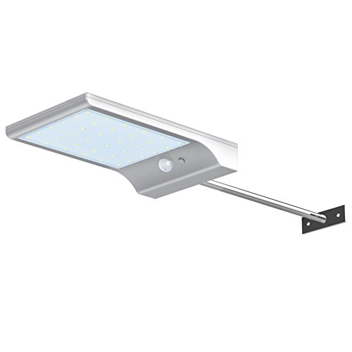 InnoGear Lampe Solaire Appliques Éclairage Mural avec Poteau de Montage Capteur Détecteur de Mouvement Lumières Solaires Éclairage Lumière Extérieur