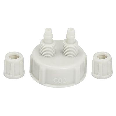 XIYAO 2 Pièces DIY Dioxyde de Carbone ABS Convient pour différents Réacteurs de CO?/Vissés sur des bouteilles de boissons gazeuses