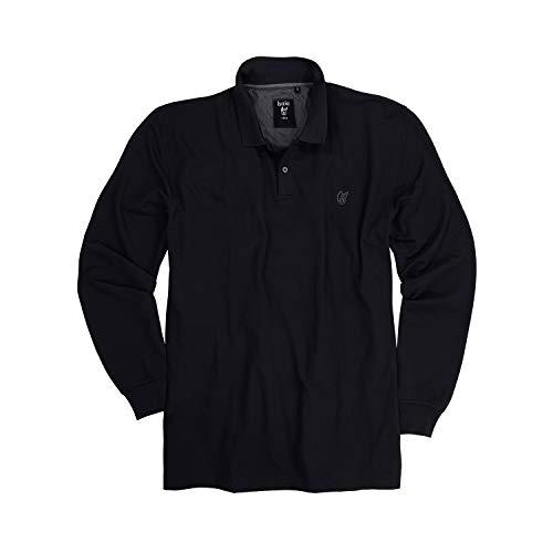 hajo Polo & Sportswear Herren Pikee-Poloshirt, schwarz, 56