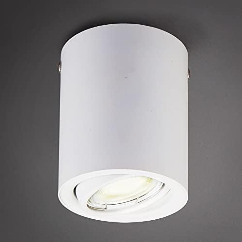 B.K.Licht Foco de techo LED integrado para interior incl. bombilla 5W GU10, Luz blanco cálido 3000K 400 lúmenes