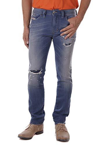 Diesel Thavar-NE R73T8 Herren Jeans Hose JoggJeans (26W, Blau)