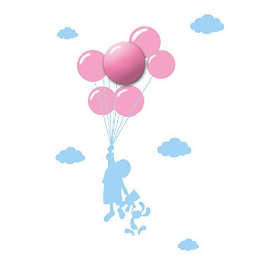 LED Kinder-Wandleuchte LED/1W/3xAA Ballon