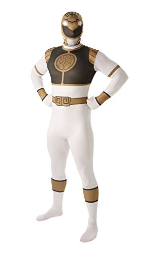 Déguisement Power Ranger Blanc pour Homme - Mighty Morphin' - Costume de Fantaisie Adulte - Seconde Peau - Officiel Rubie's