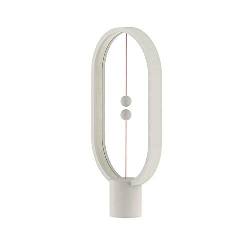 NXYJD Lámpara de equilibrio Heng: lámpara magnética Ellipse con interruptor de aire en el medio, Warm Eye-CareLamp, lámpara de noche, lámpara de mesa, decoración para el dormitorio, sala, comedor y of
