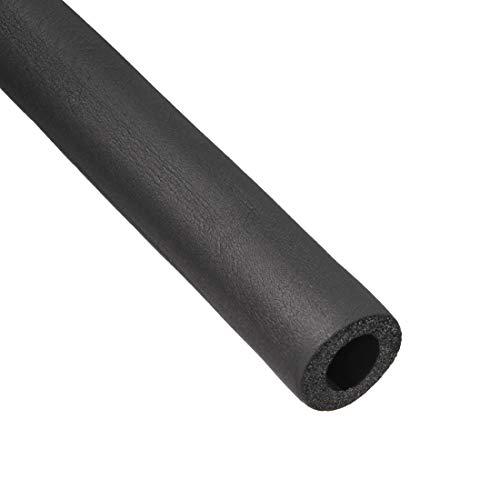 sourcing map Manguera de espuma de color negro de 6/8' x 3/8' del acondicionador de aire tubo de aislamiento de calor térmico de 6 pies de longitud 2 piezas