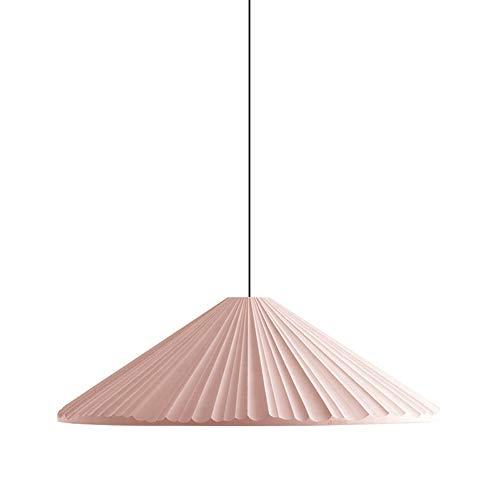 Lámpara colgante minimalista con pantallas de lámpara plisadas, lámparas de resina LED, multicolor para barra, club, restaurante XYJGWDD (Color : Pink)