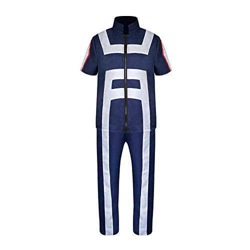 XCJLW My Hero Academia Todoroki Shoto Cosplay Costume Gymnastics Uniform Costume (Small)