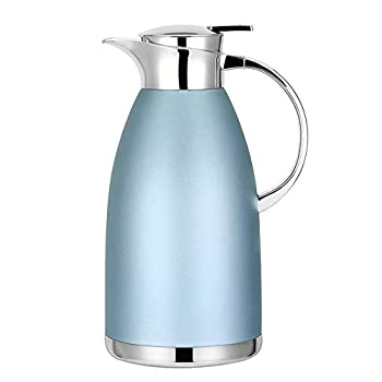 61oz Coffee Carafe Airpot Insulated Coffee Thermos Urn Stainless Steel Vacuum Thermal Pot Flask for Coffee Hot Water Tea Hot Beverage - Keep 12 Hours Hot 24 Hours Cold  Blue