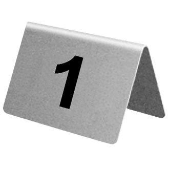 20 Restauration u047 Numéros de table en acier inoxydable