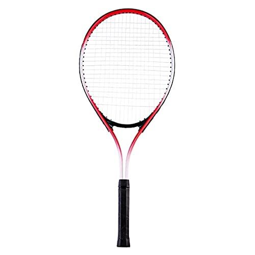Raqueta De Tenis Profesional Raqueta De Tenis Azul Y Roja para Hombres Y Mujeres Apta para Competición Y Deportes Al Aire Libre (Color : Red, Size : 3.5×27.5×69cm)