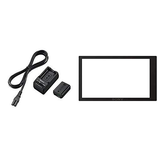 Sony ACC-TRW Akku Zubehör Kit mit BCT-RW Ladegerät und NPFW50 W-Serie Li-Akku & PCKLM17.SYH Displayschutz für Alpha 6000 Systemkamera (7,6 cm (3 Zoll) Display)