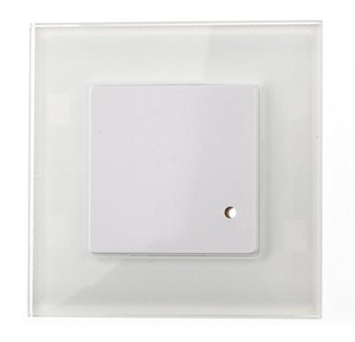 HUBER MOTION 7 HF Detector de movimiento por radar para interiores 180° - detector de movimiento empotrado LED adecuado, sensor de movimiento, incl. marco de cristal, tecnología de 3 hilos