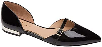 Linea Paolo Demi Delicate Two Piece Pointy Toe Ballet Flat Black Patent 10M product image