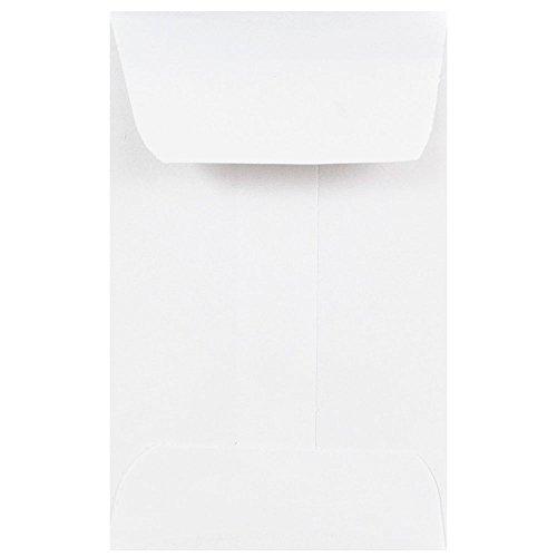 JAM PAPER #1 Coin Business Envelopes - 2 1/4 x 3 1/2 - White - 25/Pack