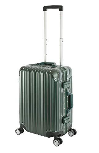 Travelhouse London Koffer Grün S-55cm Bordkoffer · Alu-Rahmen · Polykarbonat Hartschale · Reisegepäck Reise Trolley Handgepäckkoffer Kabinenkoffer · 2X TSA Zahlenschloss · Handgepäck 47L