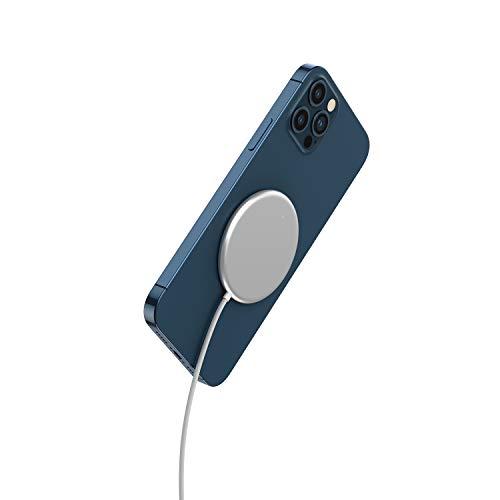 4smarts Wireless Charger Ladepad 15W UltiMAG Qi Magnetische kabellose Ladegerät mit USB-C Kabel 1,2m Kompatibel mit Qi-fähigen iPhone, AirPods, Android-Geräten - Weiß