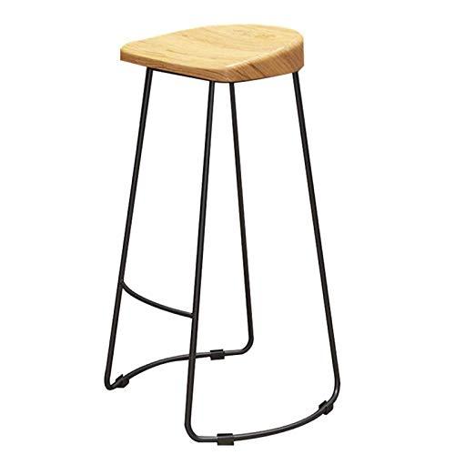 VERDELZ Frühstückstheke Barstühle Eisen Kunst Höhe Barhocker, Holz Home Küche Theke Bistro Dining Pub Frühstücksbar Stühle