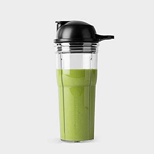 NutriBullet Cup and to-Go Lid, 20 oz, Clear/Black