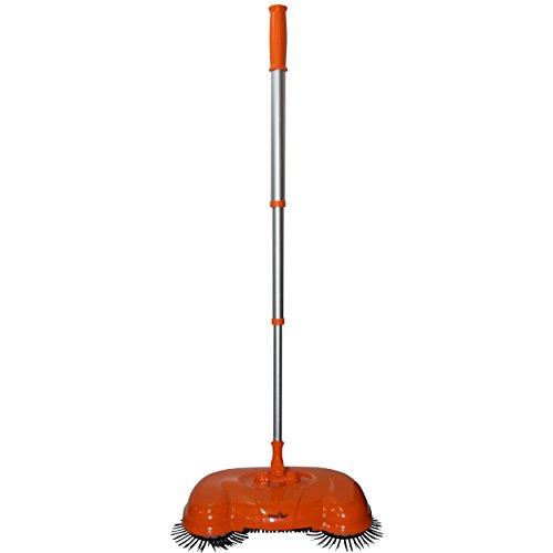 Die Kehrrevolution - Bücken ade!! Kehrbesen in den Farben Grün, Blau oder Orange Besen Kehrschaufel, Farbe Orange Zimmerbesen Haushaltsbesen Werkstattbesen Sweeper.