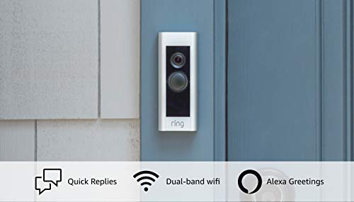 Ring Video Doorbell Pro – Upgraded, with added security features and a sleek design (existing doorbell wiring required)
