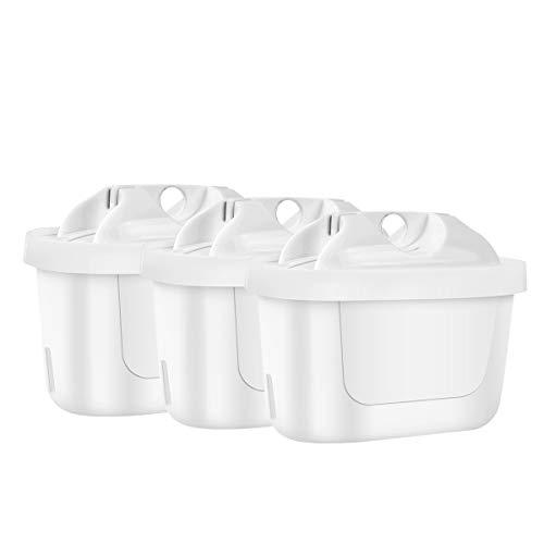 SRJTEK Cartucho de filtro compatible con Brita Maxtra+, cartucho de filtro de agua para Brita Style, Brita Fun, Mavea Elemaris XL, Merella Cool, Anna Duomax (3 unidades)