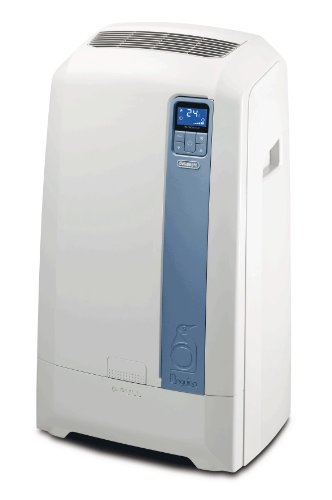 DeLonghi PAC WE112ECO - aire acondicionado portátil (A+, 1000W, 1 kWh, Color blanco, LCD, 50,5 cm)