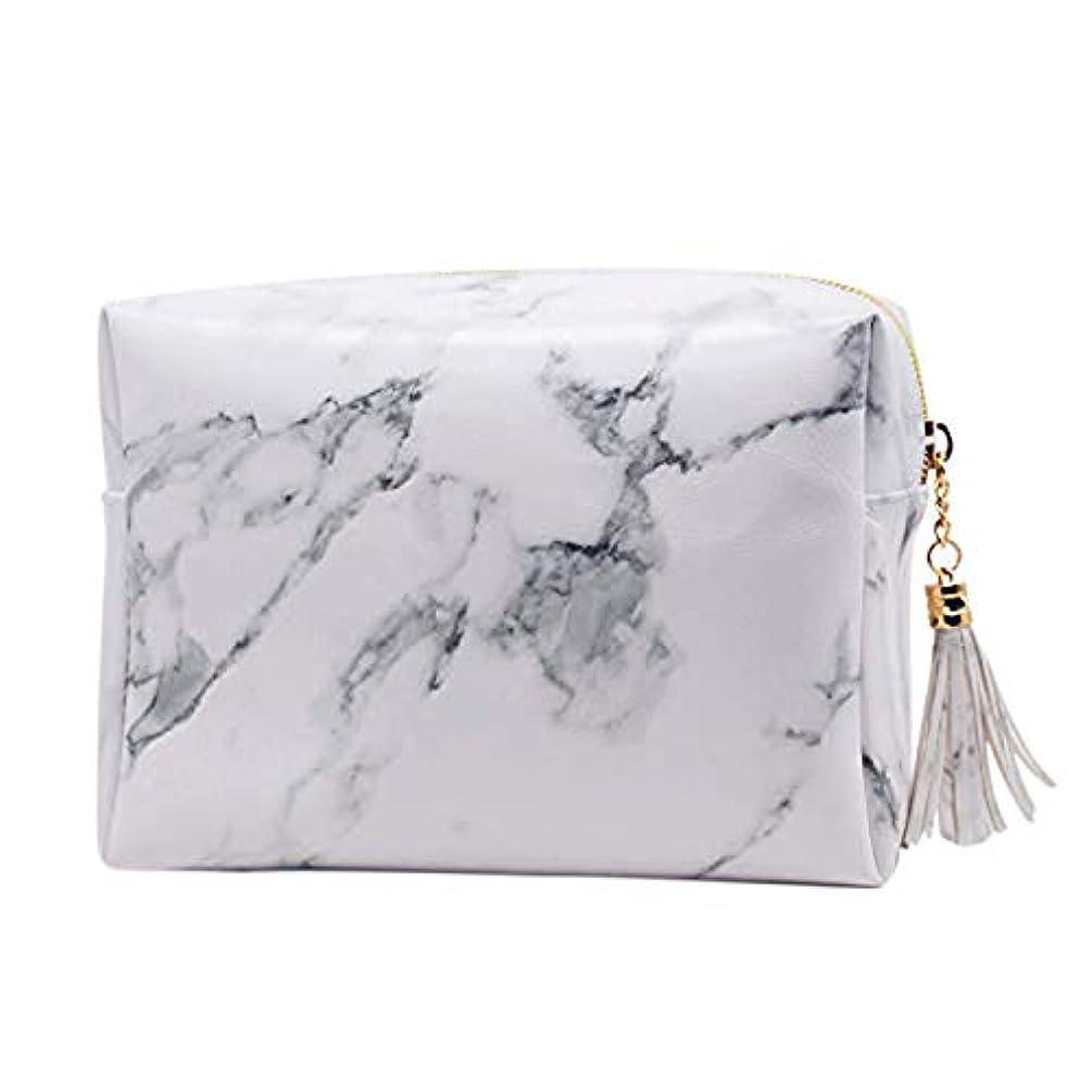 受け皿忘れるレイプRETYLY 大容量大理石パターンの化粧品袋化粧ブラシキットバッグハンドバッグトイレタリーケースゴールドジッパーバッグ、美しいタッセル付き(小:6.3 x 5.1 x 2.4インチ)