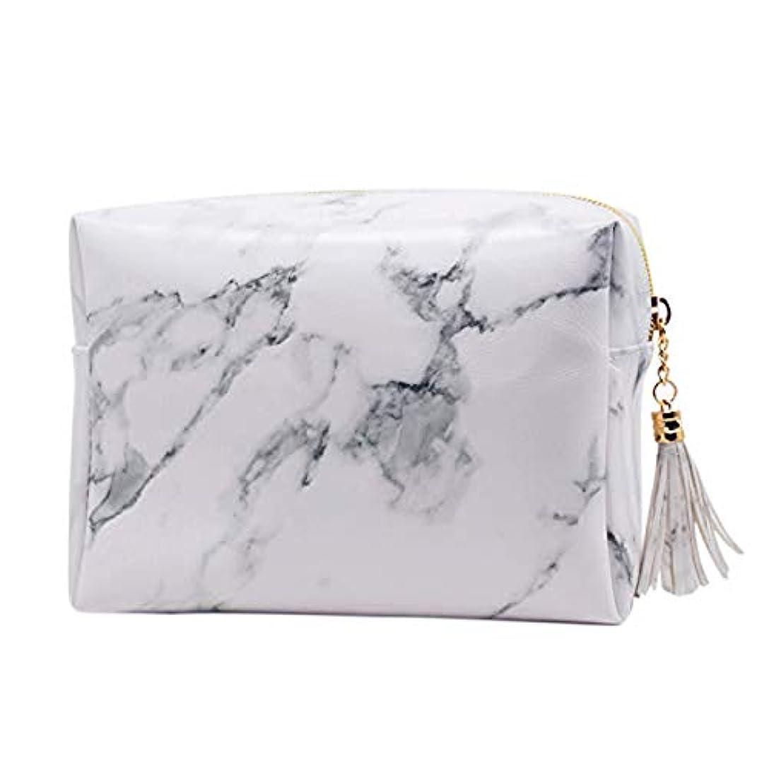 でる管理するプロフェッショナルSODIAL 大容量大理石パターンの化粧品袋化粧ブラシキットバッグハンドバッグトイレタリーケースゴールドジッパーバッグ、美しいタッセル付き(大:7.1 x 5.1 x 2.7インチ)