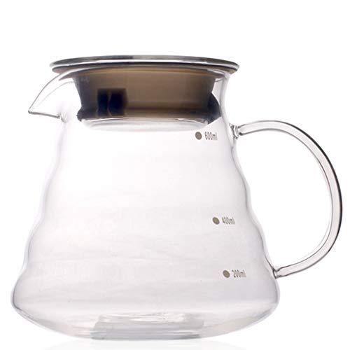 Résistant à la Chaleur Pot Goutte à Goutte en Verre à la Main Café Café Serveur Bouilloire Cafetière Teapot (300ml) (600 ML)