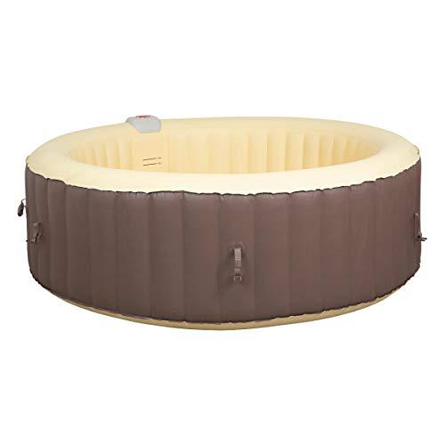 Jilong SPA - Hidromasaje Hinchable con calefacción, 4-6 Personas, marrón