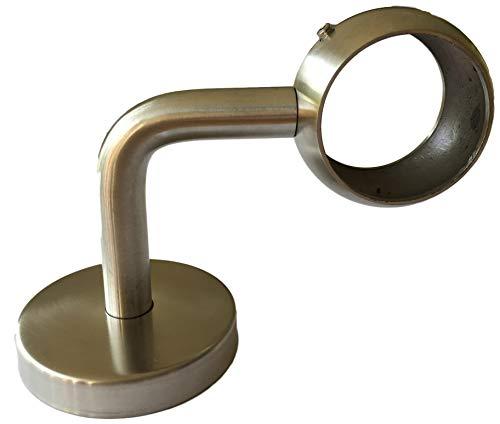 Soporte para pasamanos de acero inoxidable, sistema de 42,4 mm, soporte para barandilla, tubos y pasamanos de madera, 1 o 2 unidades, gran calidad, cerrada