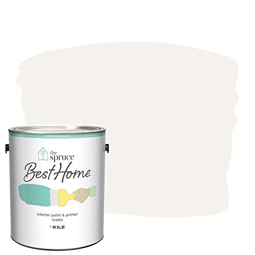 The Spruce Best Home by KILZ Interior Paint & Primer in One, First Frost, Matte, 1 Gallon