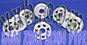 Set of 8 Full Ceramic High Speed Skateboard Bearing ZrO2/Si3N4 Ball Bearings VXB Brand