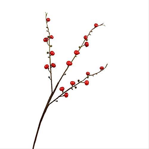 whc0815 Fake Flower Realistic Plant Art Decoration Adecuado para Cualquier ocasion Arreglo Floral de Ebay Longitud Total 91cm Baya roja Real Adornos Florales Falsos Longitud Total 70cm
