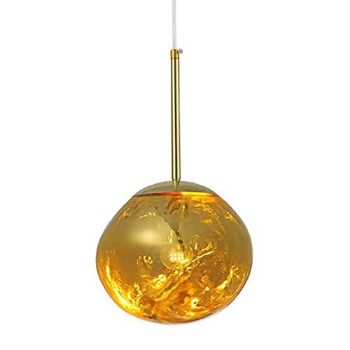 ZSH Lámpara de araña Moderna para lámpara Colgante de Cristal de Lava...